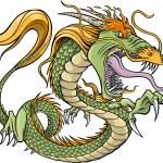 Green Dragon Vector Illustration — Stock Vector #8236626