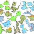 Stock Vector: Cute Dinosaur Vector Illustration Design Set