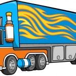 Big Truck Vector Illustration art — Stock Vector