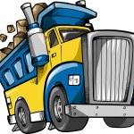 Dump Truck Vector Sketch Doodle — Stock Vector #8249844