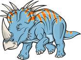 Triceratops Dinosaur Vector Illustration — Stock Vector