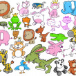 Royalty-Free Stock Vector Image: Cute Animal Design Elements Vector Set
