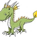 Cute Little Dragon Vector Illustration — Stock Vector #8311647