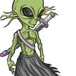 Alien Warrior Vector — Stock Vector