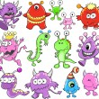 Stock Vector: Cute Monster Alien Vector Elements Set