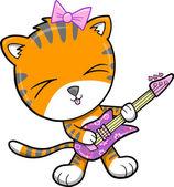Rock Star Tiger Vector Illustration — Stock Vector