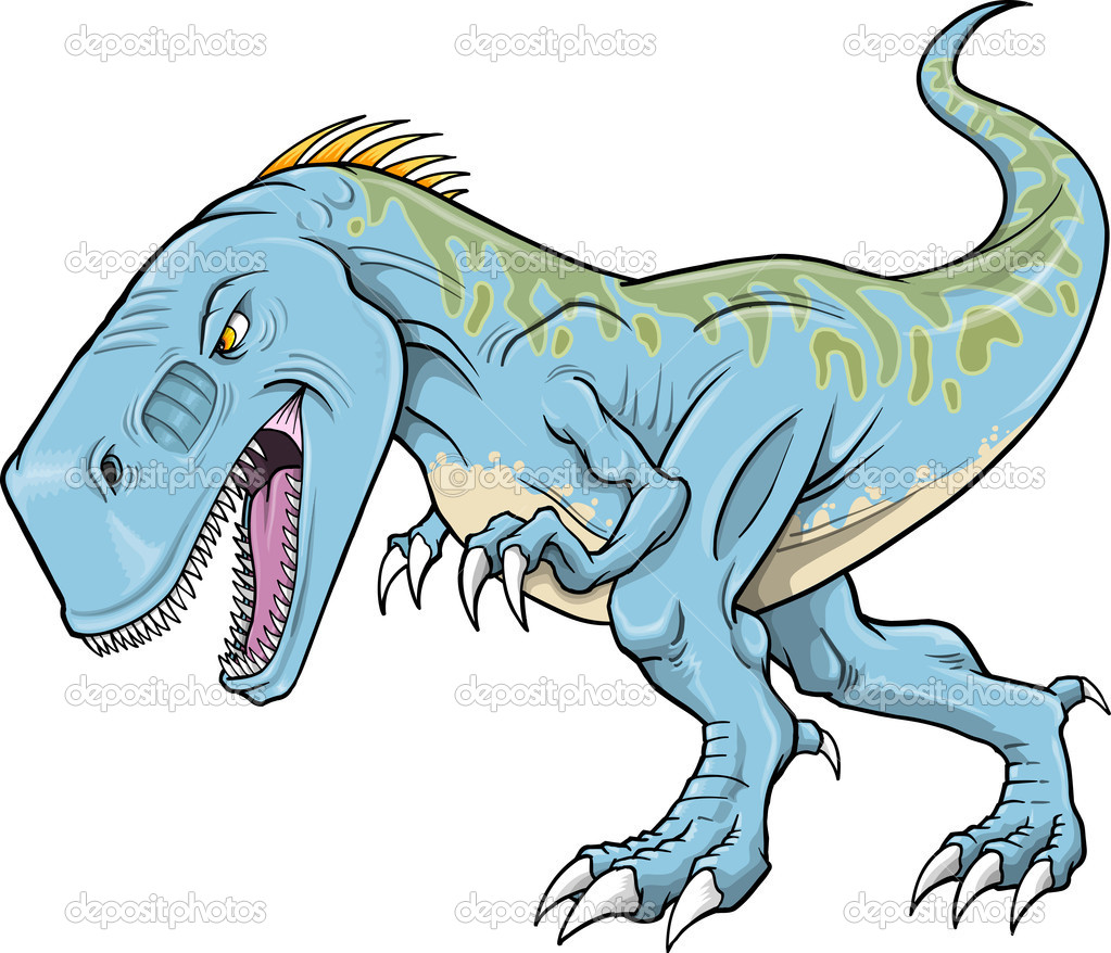 Tyrannosaurus Dinosaur Vector Illustration  art — Stock Vector #8353652