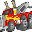 Stock Vector: Tow Truck Vector Illustration