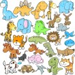 Cute Animal Vector Design elements Set — Stock Vector