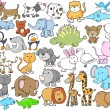 Stock Vector: Cute Animal Vector Design elements Set