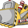 Bulldozer Vector Illustration — Stock Vector