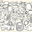 Doodle Sketch Design Elements Mega Vector set — Stock Vector #8450206