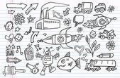 Notebook Doodle Sketch Vector Elements Set — Stock Vector