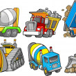 Construction Vehicle Vector Illustration Set — Stock Vector