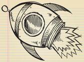 Arte portátil doodle dibujo vector ilustración — Vector de stock