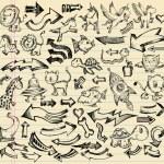 Notebook Doodle Sketch Design Vector Set — Stock Vector #8627822