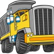 Vector Illustration of a Dump Truck - Stock Vector