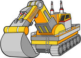 Illustration vectorielle de digger construction — Vecteur
