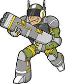 Space Trooper Vector Illustration — Stock Vector
