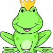 Frog Prince Vector Illustration - Stock Vector