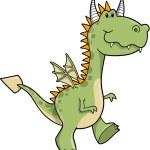 Cute Dragon Vector Illustration — Stock Vector