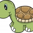 Cute Safari turtle Vector Illustration - Stock Vector