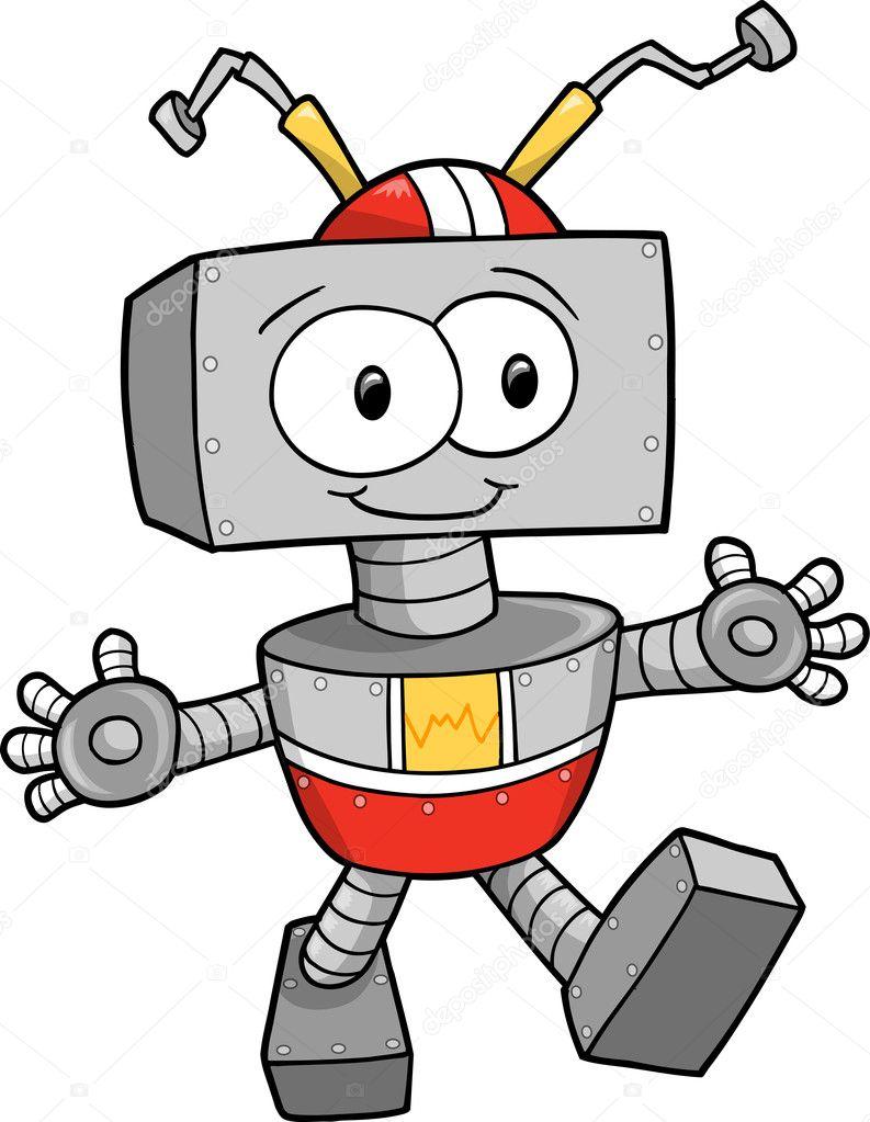 cute robot clipart - photo #43