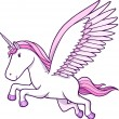 Royalty-Free Stock Vector Image: Unicorn Pegasus Vector Illustration