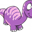 Crazy Insane Purple Dinosaur Vector Illustration — Stock Vector #8778643