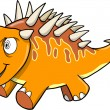 Crazy Insane Orange Dinosaur Vector Illustration — Stock Vector #8778661