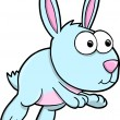 Silly Blue Bunny Rabbit Vector Illustration Art — Stock Vector #8808611