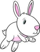 Schattig pasen konijn vector illustratie kunst — Stockvector