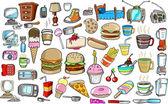 Doodle Design Elements Vector Illustration Set — Stock Vector