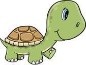 Schattige schildpad vector illustratie kunst — Stockvector