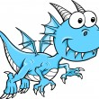 Royalty-Free Stock Vector Image: Goofy Silly Blue Dragon Vector Animal  Illustration Art