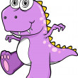 Crazy Insane Purple Dinosaur T-Rex Vector Illustration Art — Stock Vector #8863821