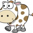 Silly Cow Animal Vector Illustration Art — Stock Vector #8863841