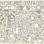 Notebook Doodle Speech Bubble Design Elements Vector Illustration Set — Stock Vector