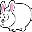 Silly Easter Bunny Rabbit Animal Vector Illustration Art — Stock Vector #8876729