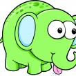 Silly Funny Elephant Animal Vector Illustration — Stock Vector #8876759