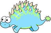 Ilustración de vector animal tonto gracioso dinosaurio goofy — Vector de stock
