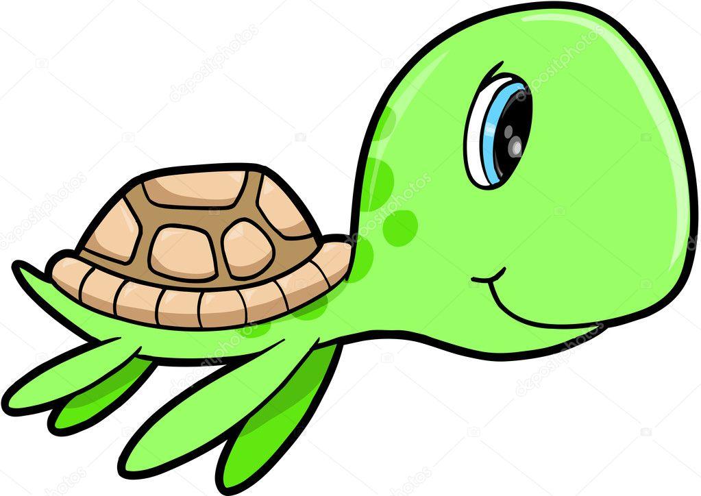 Cute animated sea turtles - photo#9