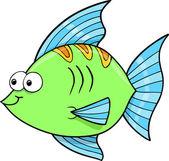 Cute Goofy Fish Ocean Vector Illustration — Stock Vector