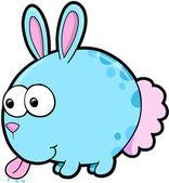 Goofy Silly Bunny Rabbit Animal Vector Illustration Art — Stock Vector