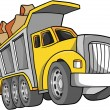 Постер, плакат: Vector Illustration of a Dump Truck
