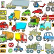 Transportation Vehicle Traffic Vector Set — Stock Vector