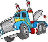 Tow truck vektor illustration — Stockvektor
