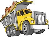 Vector Illustration of a Dump Truck — Stock Vector