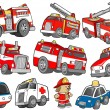 Royalty-Free Stock Vector Image: Rescue Vehicle Transportation Vector Illustration Set