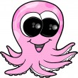Cute Pink Octopus Vector Illustration Art - Stockvectorbeeld